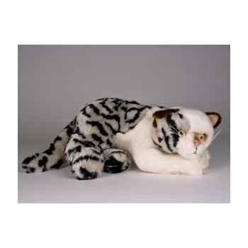 Peluche allongée chat tâcheté 25 cm Piutre -2338