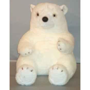 Peluche ours blanc 80 cm Piutre -G022