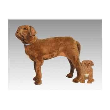 Peluche debout dogue de bordeaux 90 cm Piutre -1280