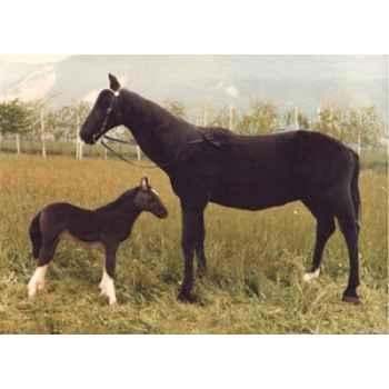 Peluche debout cheval noir 200 cm Piutre -2650