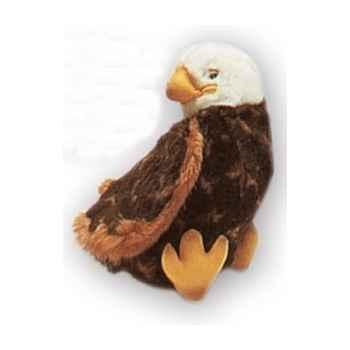 Peluche aigle pygargue à tête blanche 18 cm Piutre -2644