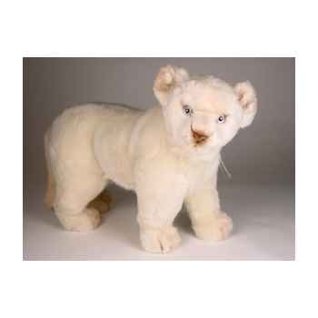 Peluche debout lion blanc 55 cm Piutre -2538