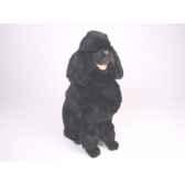 peluche assise poodle noir 60 cm piutre 252