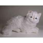 peluche allongee chat persan chinchilla blanc 30 cm piutre 2303
