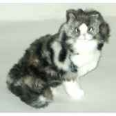 peluche assise chat norvegien 35 cm piutre 2466