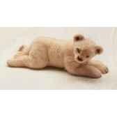 peluche allongee lion blanc 55 cm piutre 2539