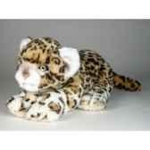 peluche allongee leopard 35 cm piutre 2587