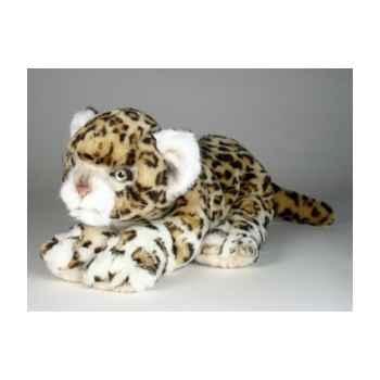 Peluche allongée léopard 35 cm Piutre -2587