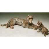 peluche allongee leopard 120 cm piutre 2527