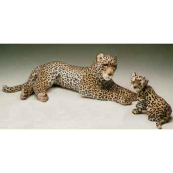 Peluche allongée léopard 120 cm Piutre -2527