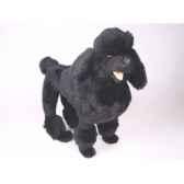 peluche debout poodle noir 60 cm piutre 251