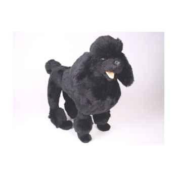 Peluche debout poodle noir 60 cm Piutre -251