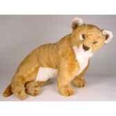 peluche assise lion 55 cm piutre 2505
