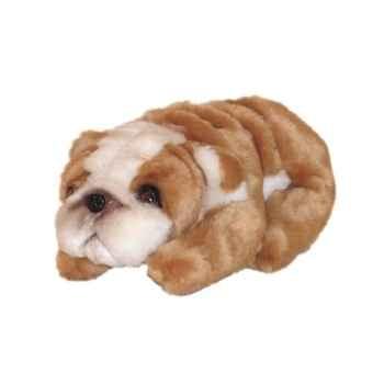 Peluche allongée miniature bulldog 23 cm Piutre -4296