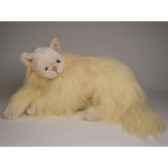 peluche allongee chat angora beige 45 cm piutre 2335