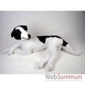 peluche allongee levrier greyhound 75 cm piutre 3230