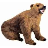 peluche assise ours grizzly 200 cm piutre 2100