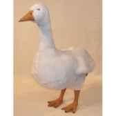peluche debout oie blanche 72 cm piutre 722