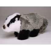 peluche miniature blaireau 15 cm piutre 4264