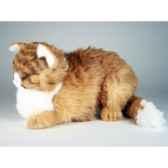 peluche chat maine coon qui dort 40 cm piutre 2383