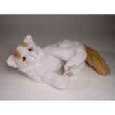 peluche couchee chat turc de van 35 cm piutre 2319