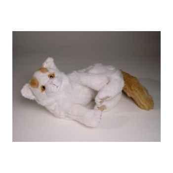 Peluche couchée chat Turc de Van 35 cm Piutre -2319