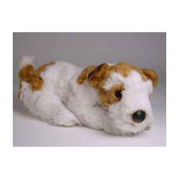 Peluche allongée fox terrier 35 cm Piutre -3277