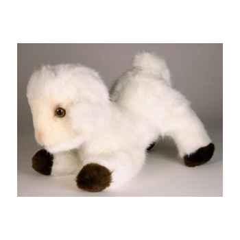 Peluche allongée agneau 35 cm Piutre -714