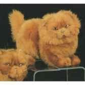 peluche debout chat persan roux 30 cm piutre 2453