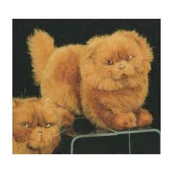 Peluche debout chat Persan roux 30 cm Piutre -2453