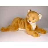 peluche allongee lion 55 cm piutre 2506