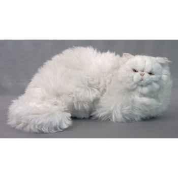 Peluche allongée chat persan 50 cm Piutre -312