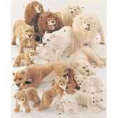 peluche debout lionne blanche 140 avec son petit cm piutre 2536