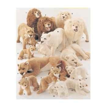 Peluche debout lionne blanche 140 avec son petit cm Piutre -2536
