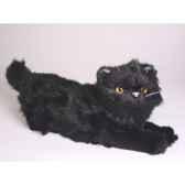 peluche allongee chat persan noir 40 cm piutre 2397