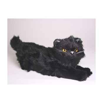 Peluche allongée chat persan noir 40 cm Piutre -2397