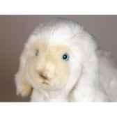 peluche allongee mouton 35 cm piutre 713