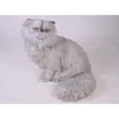 peluche assise chat persan argente 40 cm piutre 2424