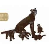 peluche assise panthere noire 50 cm piutre 2520