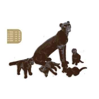 Peluche assise panthère noire 50 cm Piutre -2520