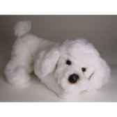 peluche allongee poodle blanc 35 cm piutre 282