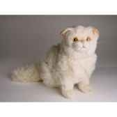 peluche assise chat persan chinchilla beige 30 cm piutre 2307