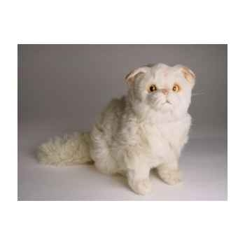 Peluche assise chat persan chinchilla beige 30 cm Piutre -2307