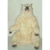 peluche assise ours polaire 160 cm piutre 2109