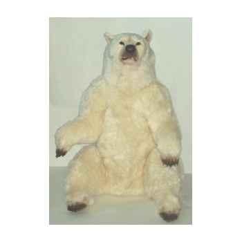Peluche assise ours polaire 160 cm Piutre -2109