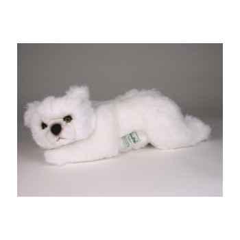 Peluche allongée ours polaire 35 cm Piutre -2118