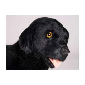 Peluche debout labrador retrevier noir 45 cm Piutre -3338