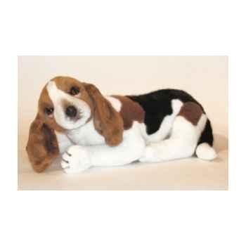 Peluche allongée basset-hound 60 cm Piutre -3286