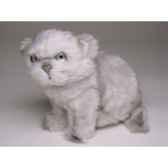 peluche assise chat persan argente 20 cm piutre 2427