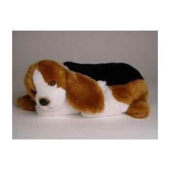 Peluche allongée basset-hound 30 cm Piutre -3251